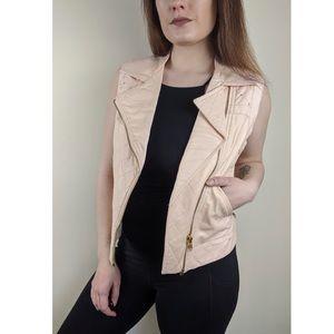 Pink Studded Leather Vest